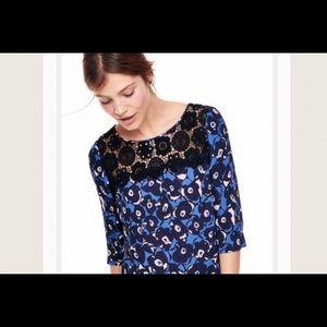 Boden Blue Floral Blouse Size US 4